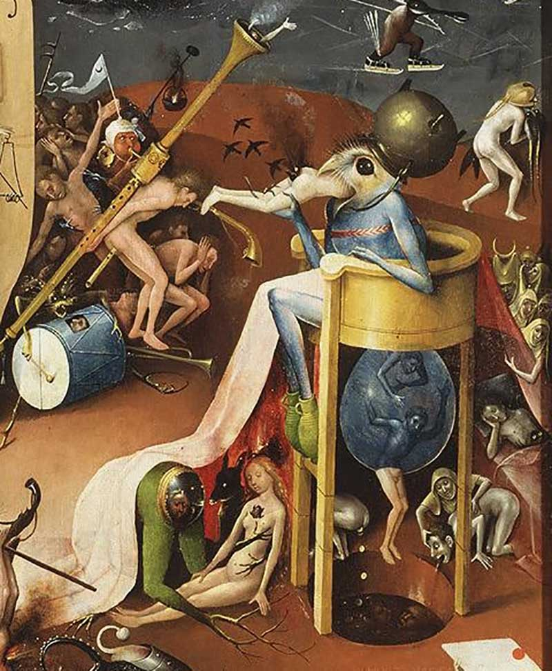 Hyeronimus Bosch, Trittico del Giardino delle delizie, particolare. Surrealismo