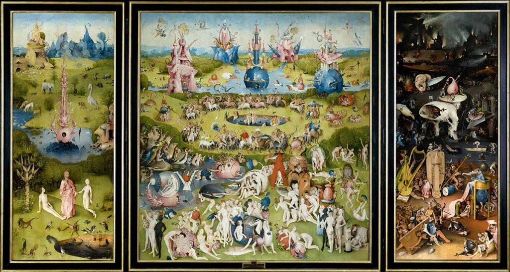 Hieronymus Bosch, Trittico del Giardino delle delizie. Surrealismo