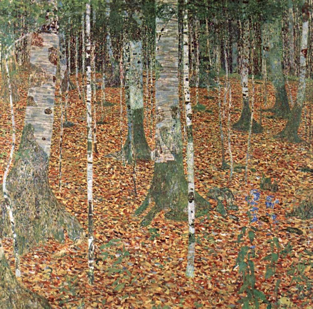 Gustav Klimt, Bosco di betulle, 1902